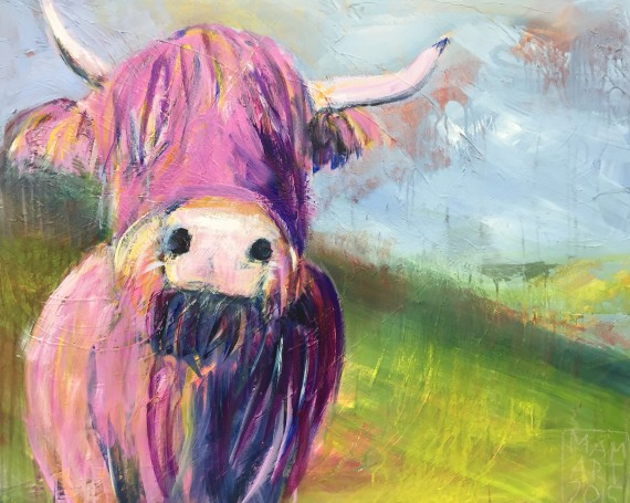 Pink fluffy cow