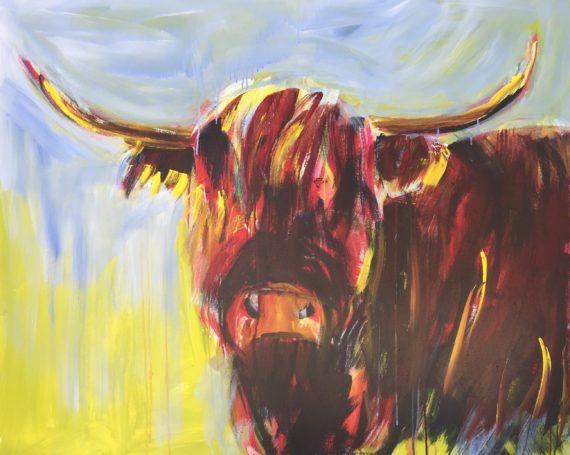 Fluffy cow
